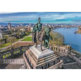 Koblenz - Kaiser-Wilhelm -Monument - Viewcard