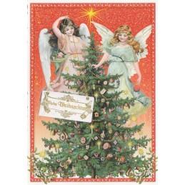 Frohe Weihnachten: Christmas tree - Tausendschön - Postcard
