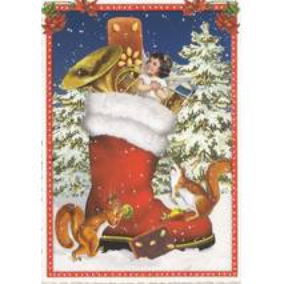 Weihnachtsstiefel - Tausendschön - Weihnachtskarte