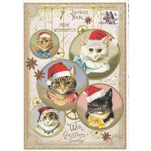 With Christmas Greetings - Christmascats - Tausendschön - Postcard