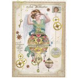 Engel mit Weihnachtskugel - Tausendschön - Weihnachtskarte
