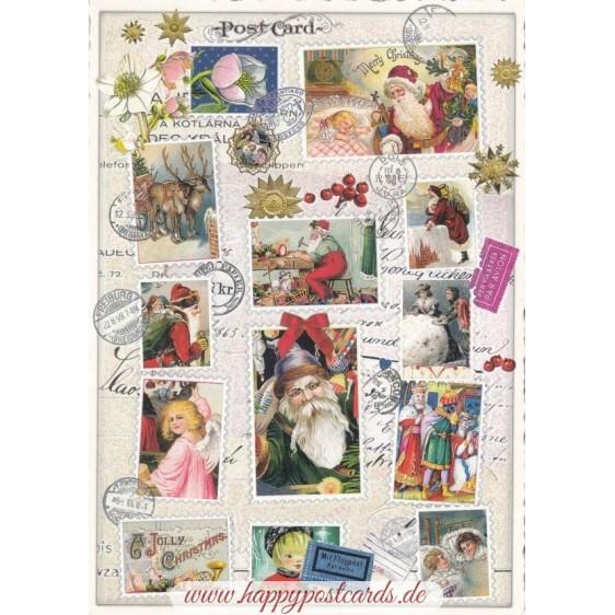 Christmas stamps - Tausendschön - Postcard