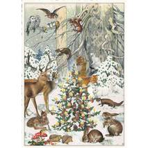 Christmas of the animals - Tausendschön - Postcard