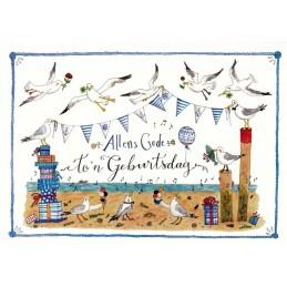 Allens Gode - Seagulls - de Waard postcard