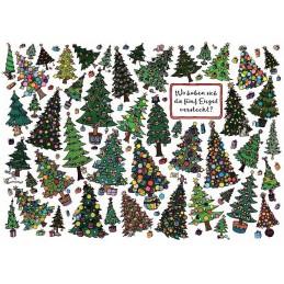 Wo haben sich die fünf Engel versteckt? - Weihnachtskarte