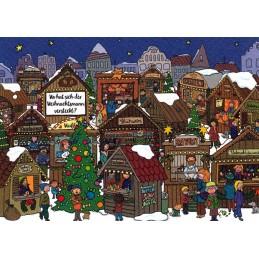 Wo hat sich der Weihnachtsmann versteckt? - Weihnachtskarte
