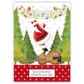 Frohe Weihnachten - Santa on violine - Quire Christmascard