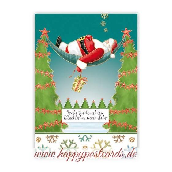 Frohe Weihnachten - Santa in hammock