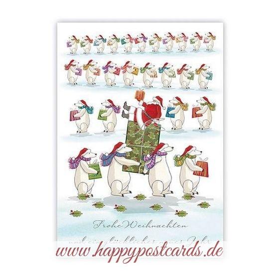Frohe Weihnachten - Santa with icebears