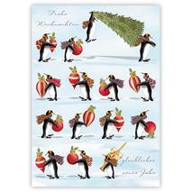 Frohes Fest - Penguins - Quire- Christmascard