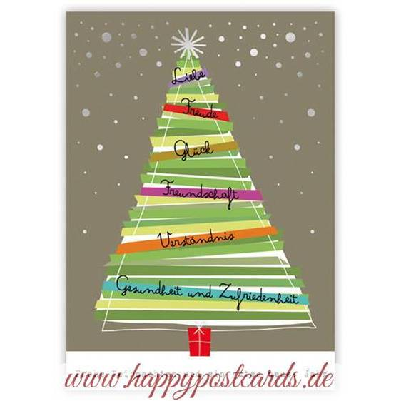 Christmastree with wishes - Quire- Christmascard