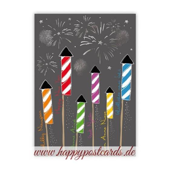 Glückliches Neues Jahr - Quire Weihnachtskarte