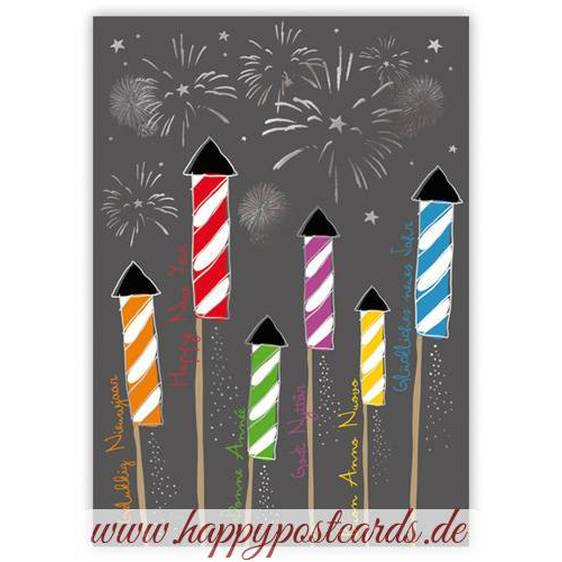 Happy New Year - Quire- Christmascard