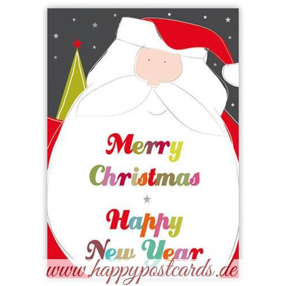 Merry Christmas - Santa - Quire Christmascard