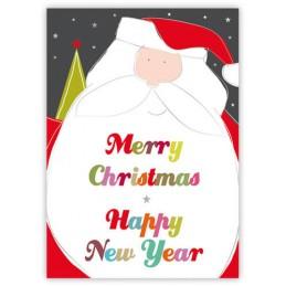 Merry Christmas - Nikolaus - Quire Weihnachtskarte