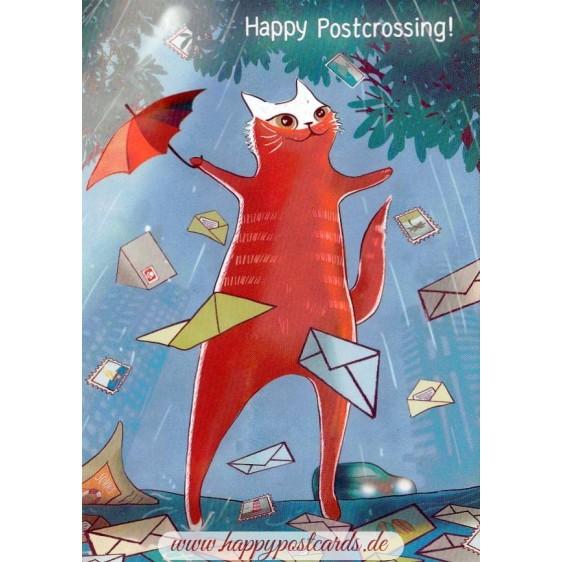 Happy Postcrossing - Warten auf Postkarten - Postkarte