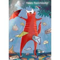 Happy Postcrossing - Raining Postcards - Postcard