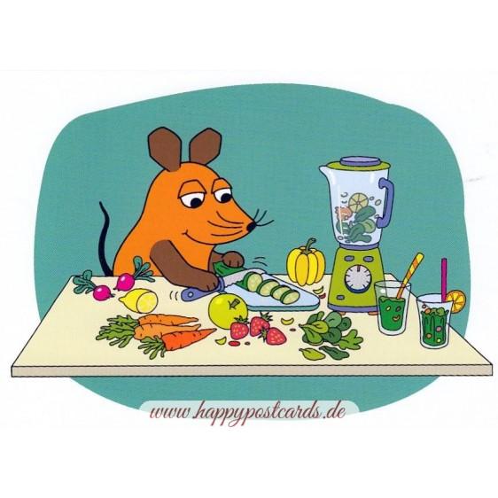 Smoothiemaker - Maus - Postkarte