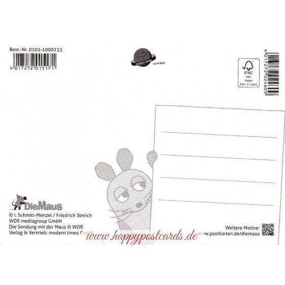Die Maus beim Surfen - Maus - Postkarte