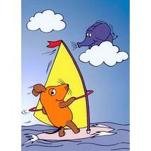 Mouse surfing - Mouse - Postcard