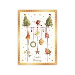 Frohe Festtage - Nikolaus auf Seil - Quire Weihnachtskarte