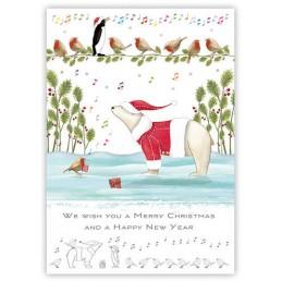 Merry Christmas - Eisbär - Quire Weihnachtskarte