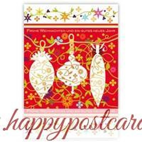 Frohe Weihnachten - Christbaumkugeln - Quire Weihnachtskarte