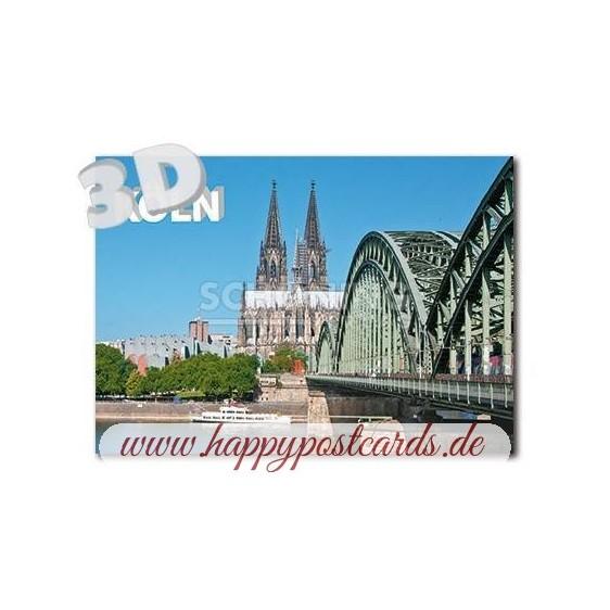 3D Cologne - 3D Postcard