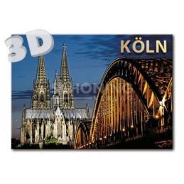 3D Köln Nacht - 3D Postkarte