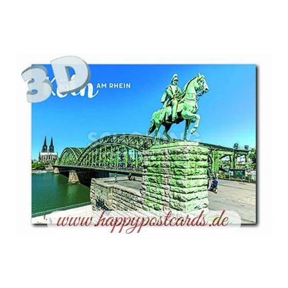 3D Köln Kaiser Wilhelm - 3D Postkarte