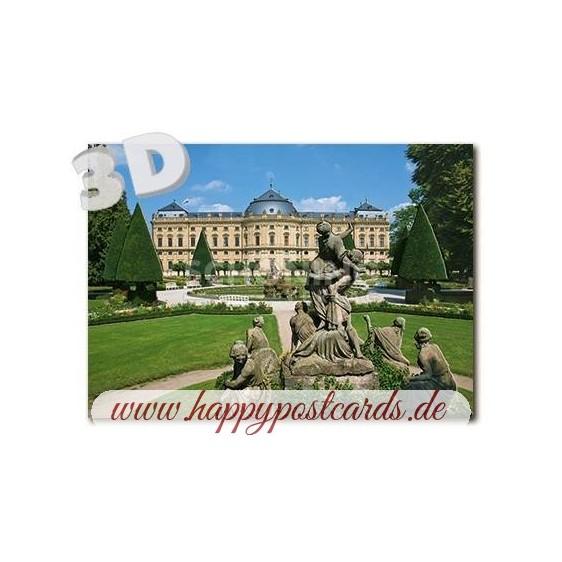 3D Würzburg - Residenz - 3D Postcard
