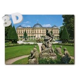 3D Würzburg Residenz - 3D Postkarte