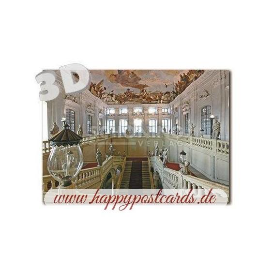 3D Würzburg Residenz - Treppenhaus -  3D Postkarte