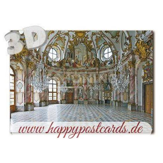 3D Würzburg Residenz - Kaisersaal -  3D Postkarte