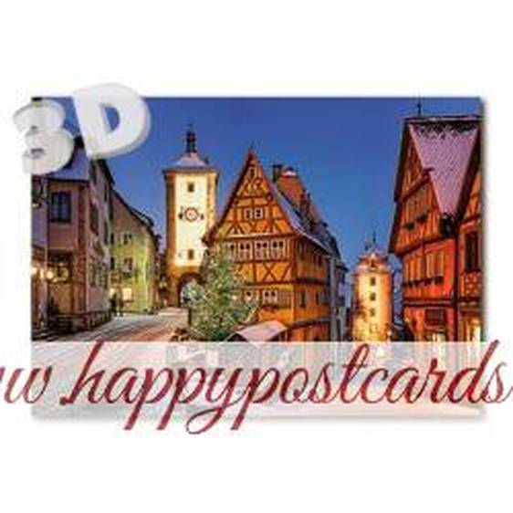 3D Rothenburg o.d.T. - Ploenlein - 3D Postcard