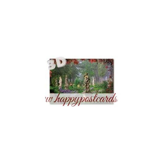 3D Rothenburg o.d.T. - Burggarten - 3D Postcard