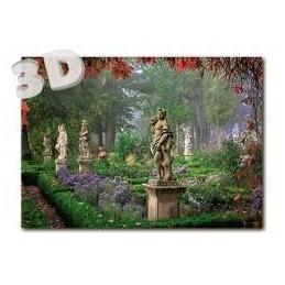 3D Rothenburg o. d. Tauber - Burggarten -  3D Postkarte