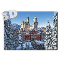 3D Neuschwanstein - Winter - 3D Postcard
