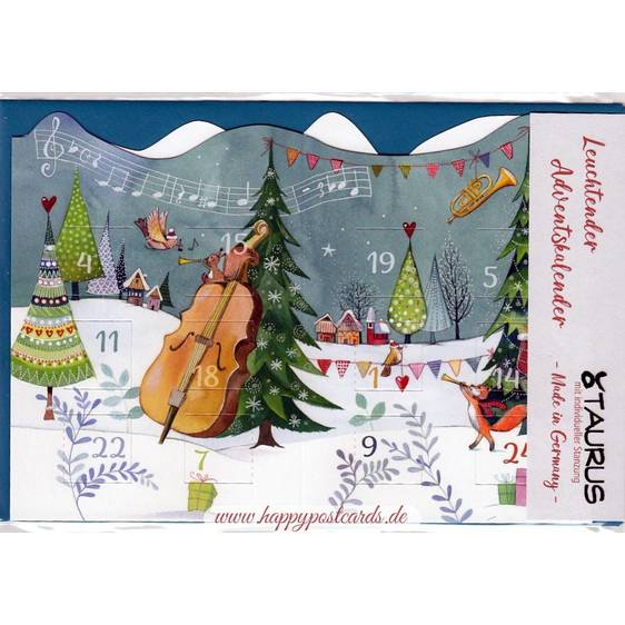 Musical Christmas - Luminous Advent calendar