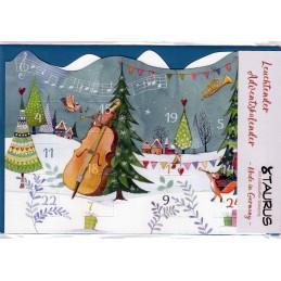 Musikalische Weihnachten - Leuchtender Adventskalender