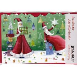 Weihnachtsfrau - Leuchtender Adventskalender