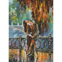 Kiss after the Rain - Postcard