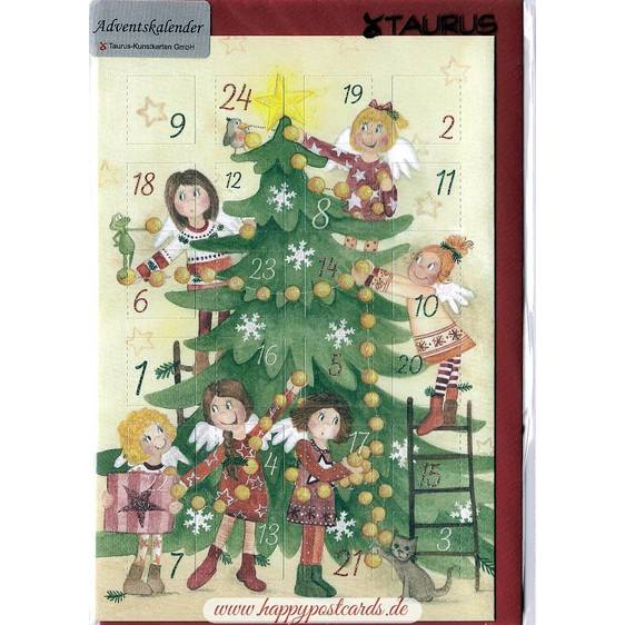 Angels at Christmastree - Advent calendar