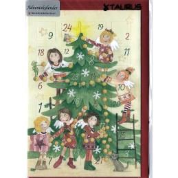 Engelchen am Weihnachtsbaum - Adventskalender