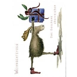 Weihnachtsyoga - Geschenk - Weihnachtskarte