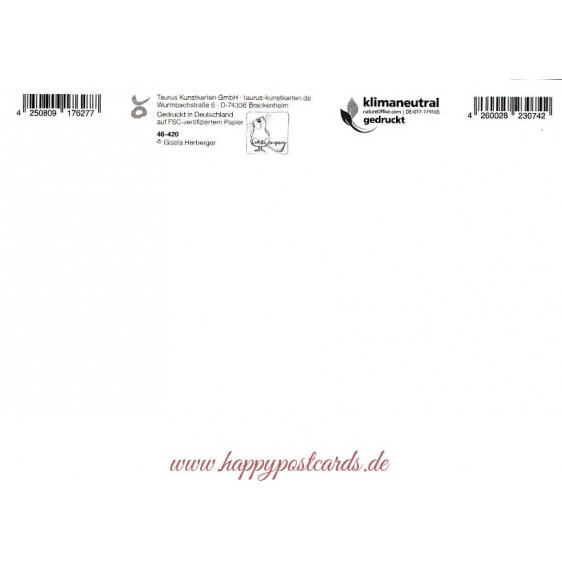 Christmasyoga - The Present - Christmas Postcard