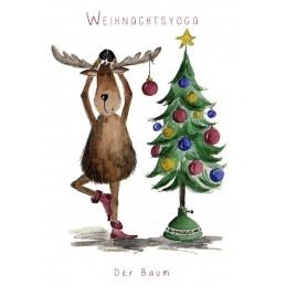 Weihnachtsyoga - Der Baum - Weihnachtskarte