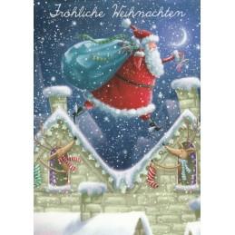 Fröhliche Weihnachten - Auf den Dächern - Weihnachtskarte