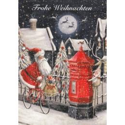 Fröhliche Weihnachten - Briefkasten - Weihnachtskarte