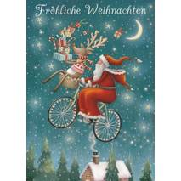 Fröhliche Weihnachten - Fahrrad - Weihnachtskarte